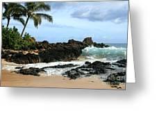 Lapiz Lazuli Stone Aloha Paako Aviaka Greeting Card