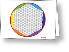 Large 64 Tetra Flower Of Life Greeting Card