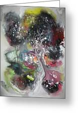 Large Color Fever Abstract25-original Abstract Painting Greeting Card