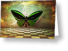 Large Green Wings Greeting Card