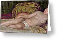 Large Nude Greeting Card by Pierre Auguste Renoir
