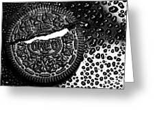 Large Oreo Black And White  Greeting Card