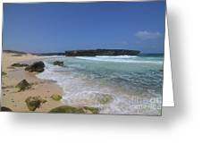 Large Rock Formation On The Beach At Boca Keto Greeting Card