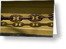 Large Rusted Chain And Its Shadow Greeting Card