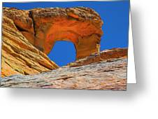 Large Sandstone Arch Valley Of Fire Greeting Card