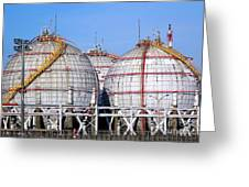 Large Spherical Sotrage Tanks Greeting Card
