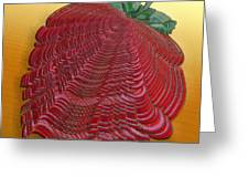 Large Strawberry Scallop Greeting Card