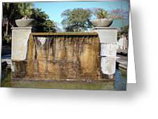 Large Water Fountain Greeting Card