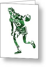 Larry Bird Boston Celtics Pixel Art 10 Greeting Card