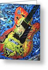 Larry Carlton Guitar Greeting Card