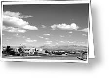Las Cruces Mountains Black And White Greeting Card