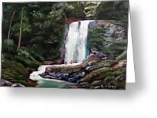 Las Marias Puerto Rico Waterfall Greeting Card
