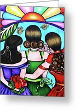 Las Tres Rosas Greeting Card