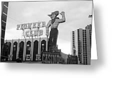 Las Vegas 1980 Bw #13 Greeting Card
