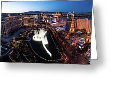 Las Vegas Lights Greeting Card