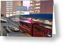 Las Vegas Monorail Greeting Card