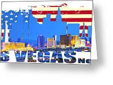 Las Vegas Nevada Skyline Greeting Card
