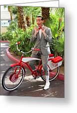 Las Vegas Pee Wee Greeting Card