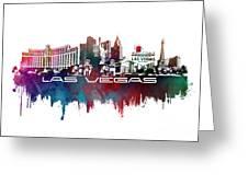 Las Vegas Skyline City Blue Greeting Card