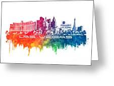 Las Vegas Skyline City Color Greeting Card