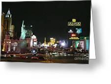 Las Vegas Strip At Night Greeting Card