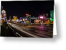 Las Vegas Strip At Night Greeting Card