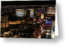 Las Vegas Strip Greeting Card by Kristin Elmquist