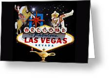 Las Vegas Symbolic Sign Greeting Card