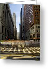 Lasalle Street Commuter Action Greeting Card