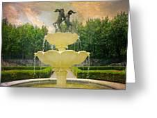 Lasdon Fountain Garden Greeting Card
