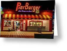 Last Burger On Land Greeting Card