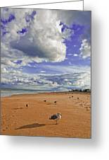 Last Day At The Beach Greeting Card