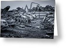 Last Journey - Salvage Yard Greeting Card