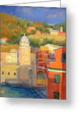 Last Light - Vernazza Greeting Card