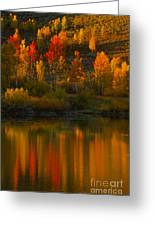 Last Light At Oxbow Bend  Greeting Card