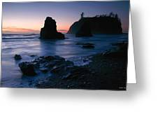 Last Light At Ruby Beach Greeting Card
