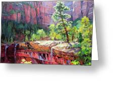 Last Light In Zion Greeting Card