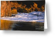 Last Light On Harris Beach Greeting Card