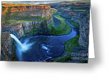 Last Light On Palouse Falls Greeting Card
