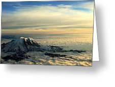 Last Light On Rainier II Greeting Card