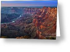 Last Light On The Canyon Greeting Card