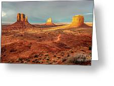 Last Light Over Monument Valley Greeting Card