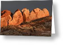 Last Light Valley Of Fire Greeting Card