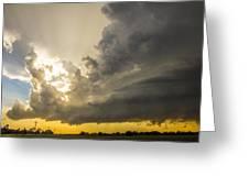 Last Nebraska Supercell Of The Summer 024 Greeting Card