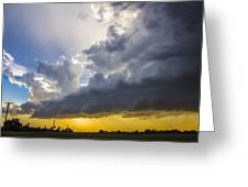 Last Nebraska Supercell Of The Summer 043 Greeting Card