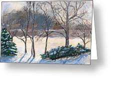 Last Night's Snow Greeting Card by Elizabeth Lane
