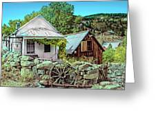 Last Post Office And Ice House Greeting Card