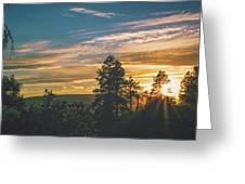 Last Rays Of Sunday Greeting Card by Jason Coward