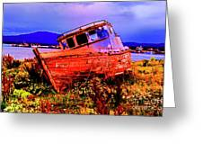 Last Red Boat Greeting Card