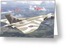 Last Royal Escort - Avro Vulcan Greeting Card